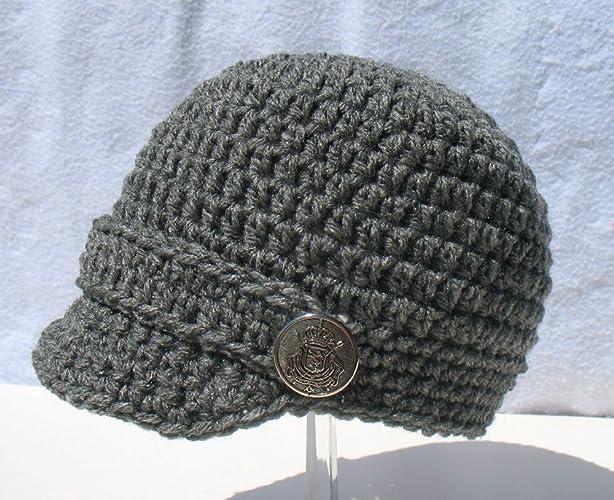 b6fac1ef273 Amazon.com  Crochet Visor Beanie Baby Boy Hat Toddler Child Made in USA   Handmade