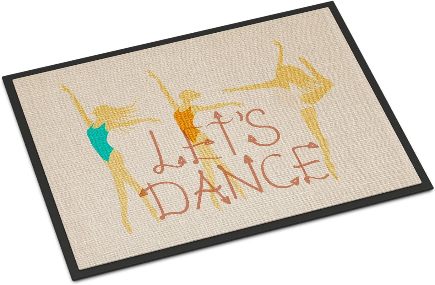 Caroline s Treasures BB5376JMAT Let s Dance Linen Light Indoor or Outdoor Mat 24×36, 24H X 36W, Multicolor