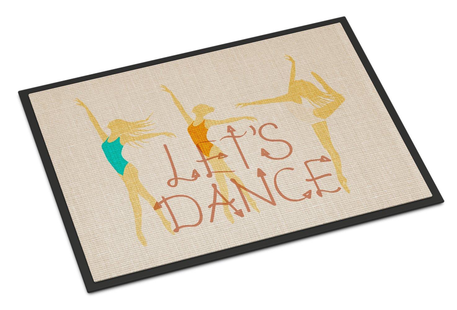 Caroline's Treasures Let's Dance Linen Light Doormat, 24 H x 36 W, Multicolor