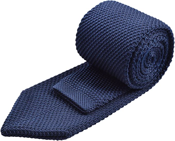 Alizeal Estructura–Corbata Ancha de Punto para Hombre Marino ...