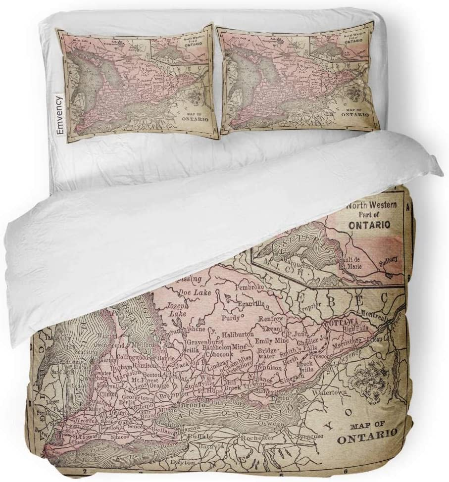Entire Map Of Canada Amazon.com: Tarolo Bedding Duvet Cover Set Yellow Canada Canadian