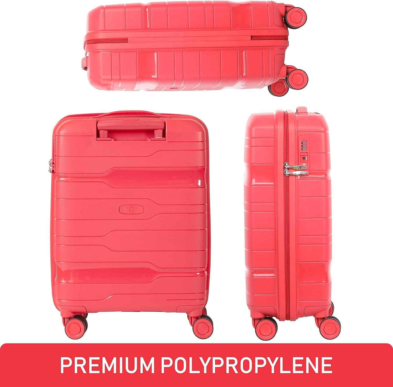 Aerolite Valise 55 x 40 x 20 cm avec Serrure /à Combinaison TSA int/égr/ée /à 3 Chiffres homologu/ée pour Ryanair Merlot easyJet British Airways /& More