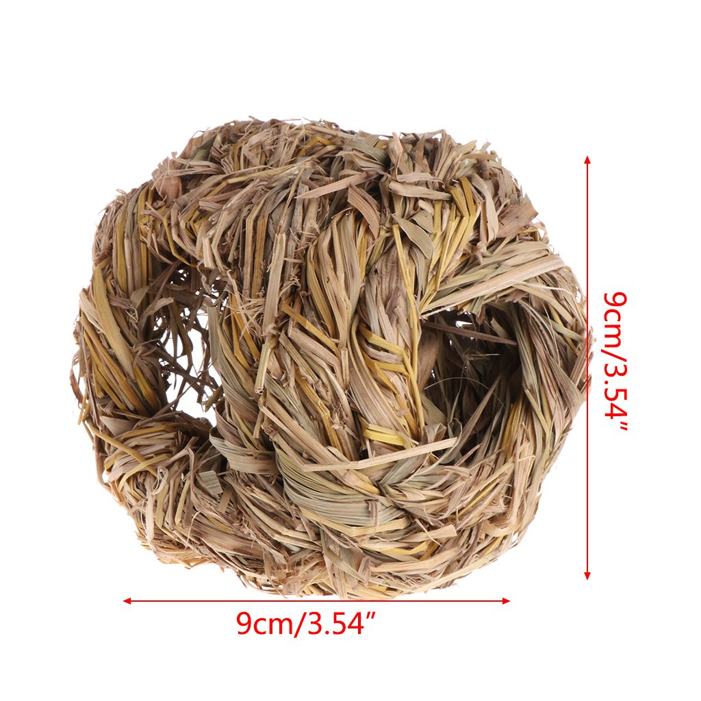Hamster Yumian Handmade Edible Natural Grass Bell Play Ball//Holey Nest//Holey Tunnel for Rabbit Chew Toy for Small Animals. Guinea-Pig or Chinchilla