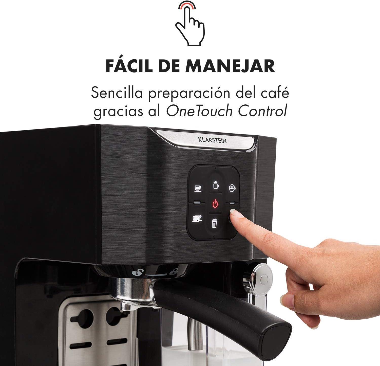 Klarstein BellaVita TotalBlack Edition Máquina de café - Cafetera ...