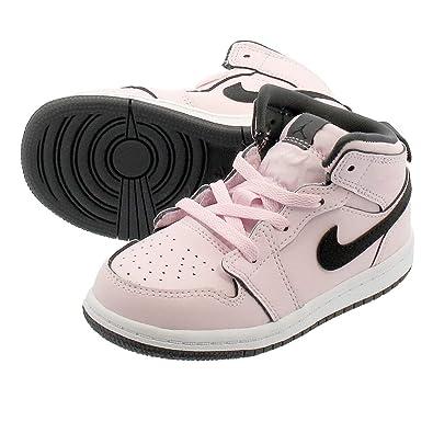 the latest eae70 26ae7 Amazon.com   Jordan 1 Mid Pink Foam/Black-White (TD)   Sneakers