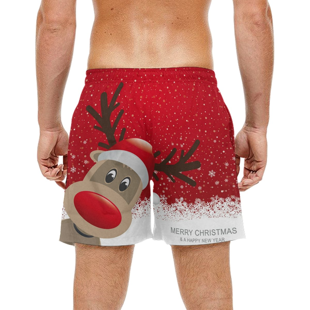 d88beeed22 COOSUN Men's Christmas Reindeer Beach Board Shorts Quick Dry Swim Trunk:  Amazon.co.uk: Clothing