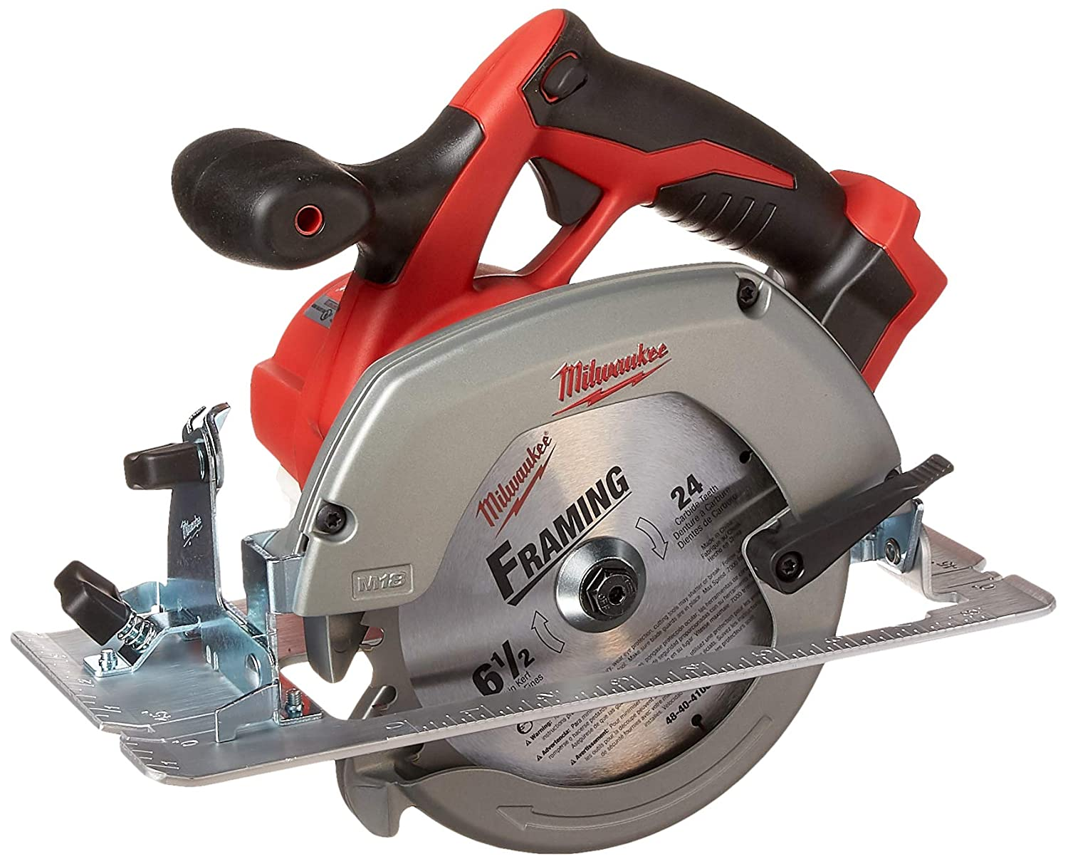Milwaukee M18 2630-20 18 Volt Lithium Ion 6-1 2 3,500 RPM Cordless Circular Saw w Magnesium Guards and Included 24-Tooth Carbide Wood Cutting Blade