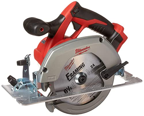 Milwaukee M18 2630-20 18 Volt Lithium Ion 6-1 2 3,500 RPM Cordless Circular Saw w Magnesium Guards and Included 24-Tooth Carbide Wood Cutting Blade Bare Tool