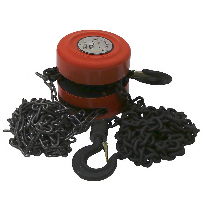 Oypla 1 Ton Chain Lifting Block & Tackle Hoist Heavy Duty Load 3437OYP