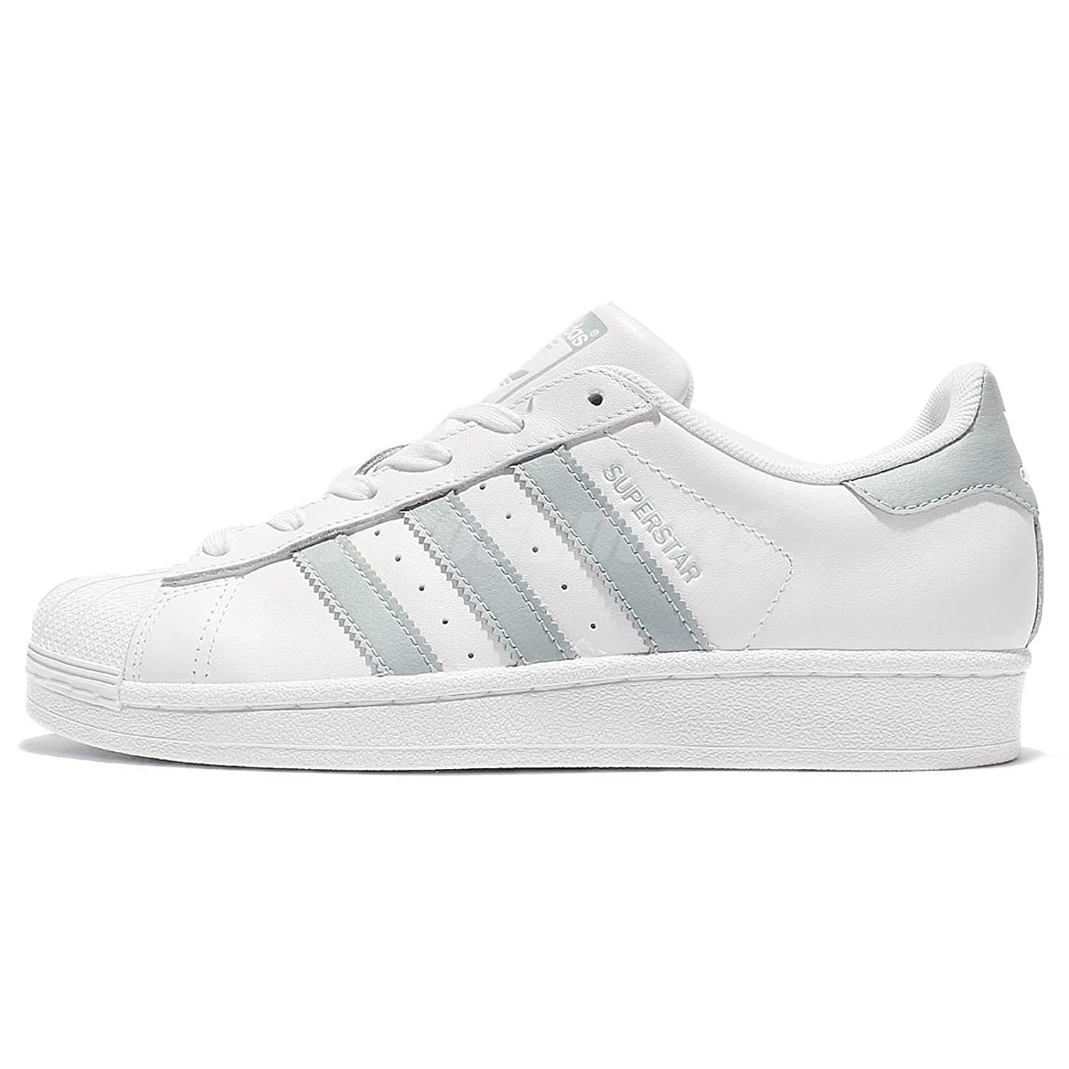 separation shoes 83216 0303d Amazon.com   adidas Superstar White Pastel Green White (Womens) (8 B(M) US)    Fashion Sneakers
