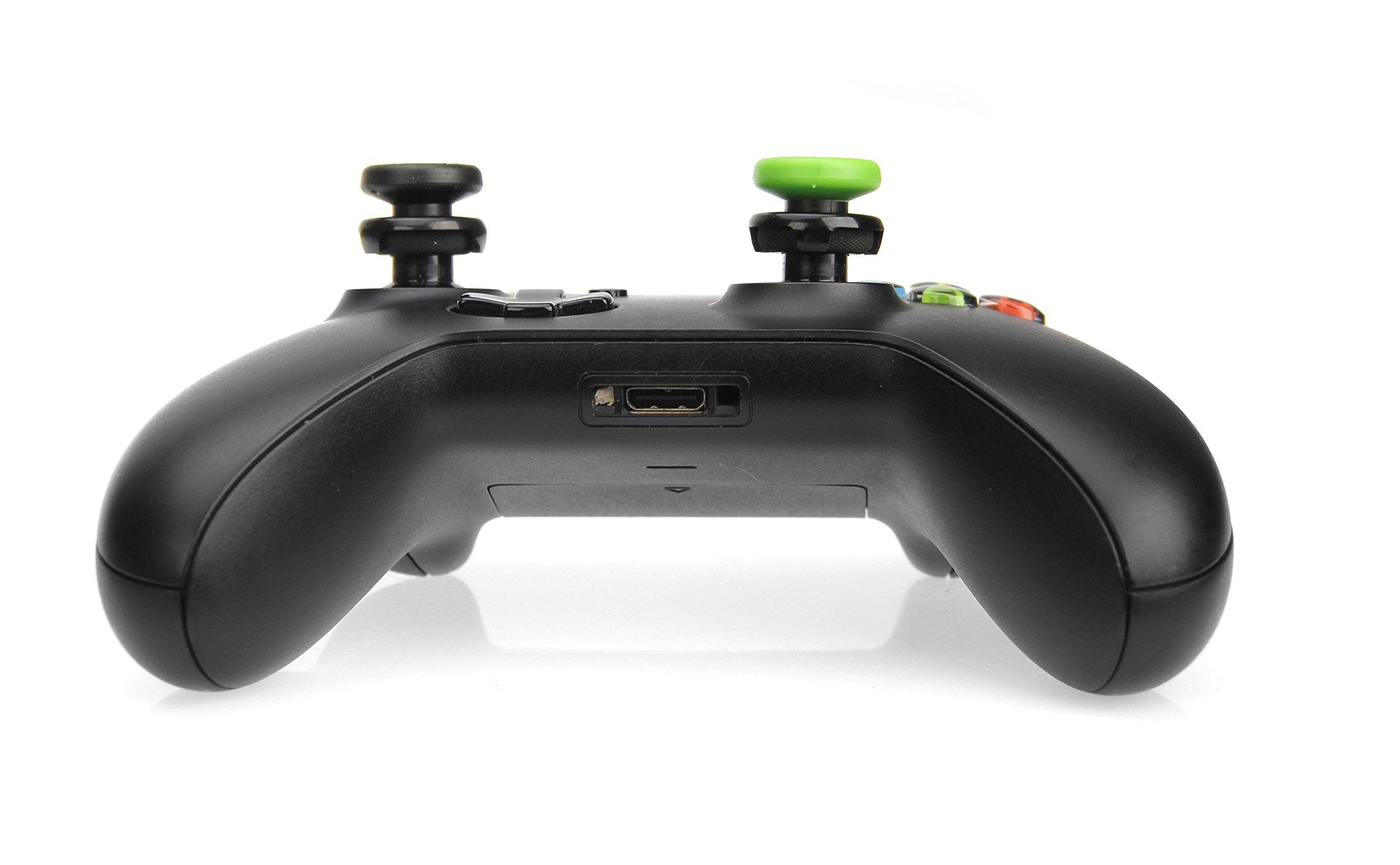 AmazonBasics Xbox One Controller Thumb Grips - 4-Pack, Black and Green by AmazonBasics (Image #4)