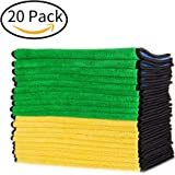 Mr. Ho 840gsm Ultra-thick Microfiber Car Cleaning Towels Set Waxing and Polishing Drying Clothes Super Absorbent Auto Detailing Towel - 20 Pack