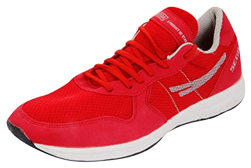 SEGA Unisex Red and White Running Shoes