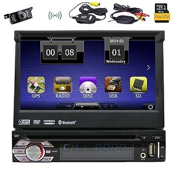 2e390f324e540 Caméra de recul sans Fil Eincar Universal Simple 1 DIN 7 Pouces motorisé HD  écran Tactile