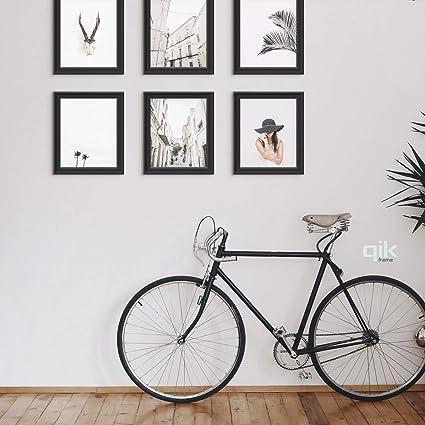 Amazon.com: QIK FRAME New 6pc Gallery 11x14 Wall Set, Black | Easy ...