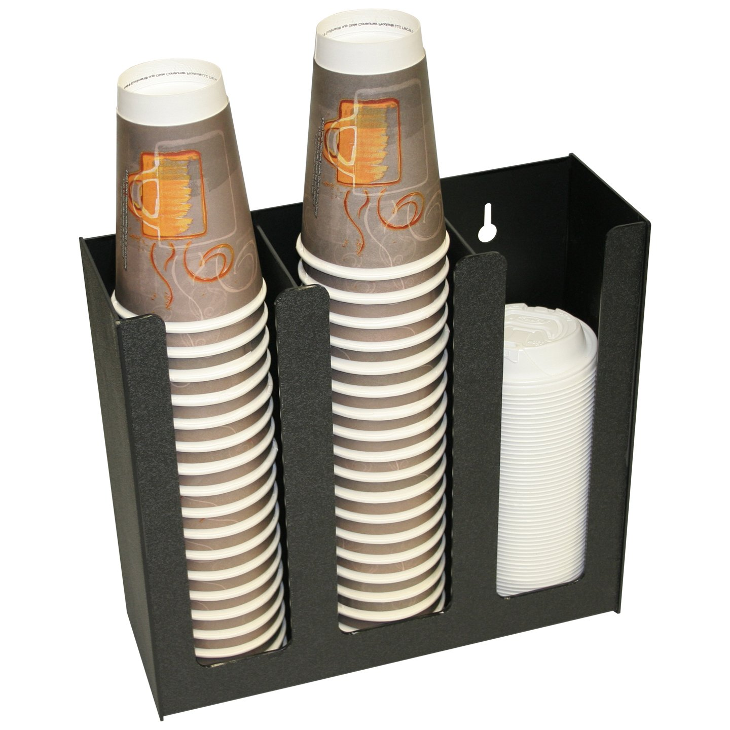 Coffee Cups or Lid Holder, 3 Columns 12''high. Non-Breakable, Now With Wall-Mount Holes. Proudly Made in the USA! and made by PPM. by Plastic & Products Marketing PPM (Image #2)