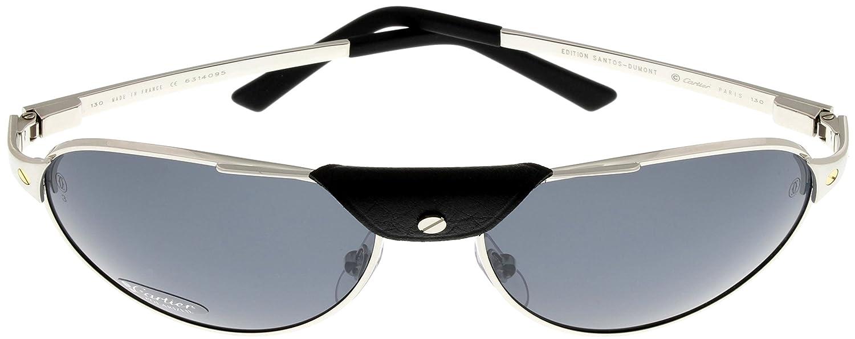 e8666b01539c0 Cartier Edition SANTOS-Dumont Sunglasses Mens Pale Silver Polarized T8200891  58  Amazon.ca  Clothing   Accessories