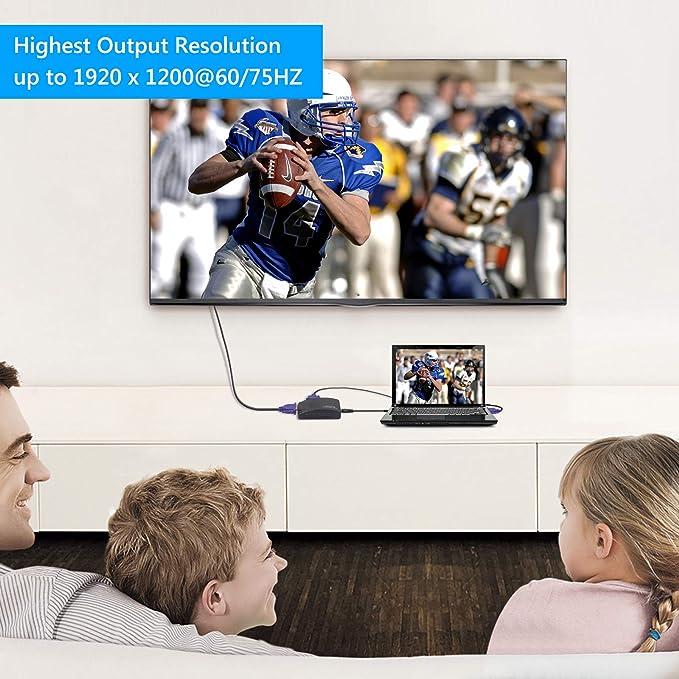 Esynic – CCTV DVR PC portátil RCA S-Video a VGA convertidor de TV VGA Entrada a salida VGA adaptador caja: Amazon.es: Electrónica
