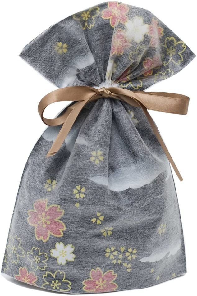 Gift Mate 21018-6 6-Piece Drawstring Gift Bags, Medium, Non-Woven Asian Garden