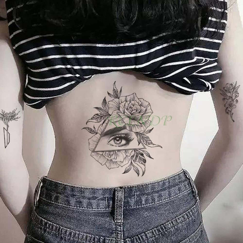 Modeganqing 8 Piezas Pegatina Tatuaje Impermeable Rosa Flor Brazo ...