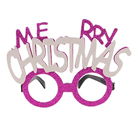 MagiDeal Glitter Glasses Fun Party Eyewear Merry Christmas/Happy New ...