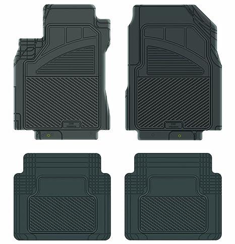 Weather Car Mats >> Koolatron Pants Saver Custom Fit 4 Piece All Weather Car Mat Black