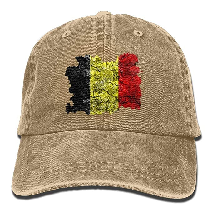 a43f2d1a17500 Image Unavailable. Image not available for. Color  Belgium Vintage Flag  Denim Hat Adjustable Mens Mini Baseball ...