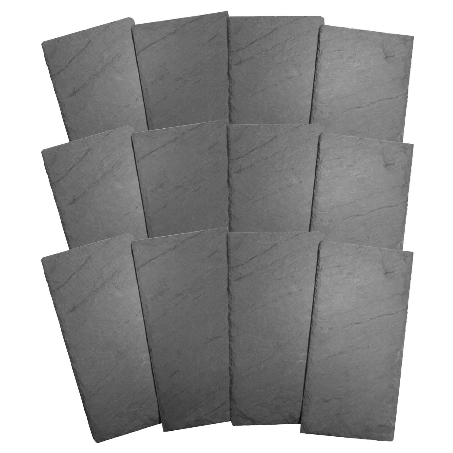 Cohas Slate Food and Cheese Platter Restaurant Pack includes 12 Regular 8 by 16 Inch Boards, Undrilled Gray Slate