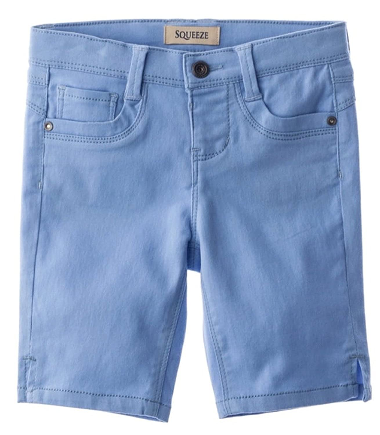 Squeeze Little Girls Sateen Bermuda Shorts 4 Blue