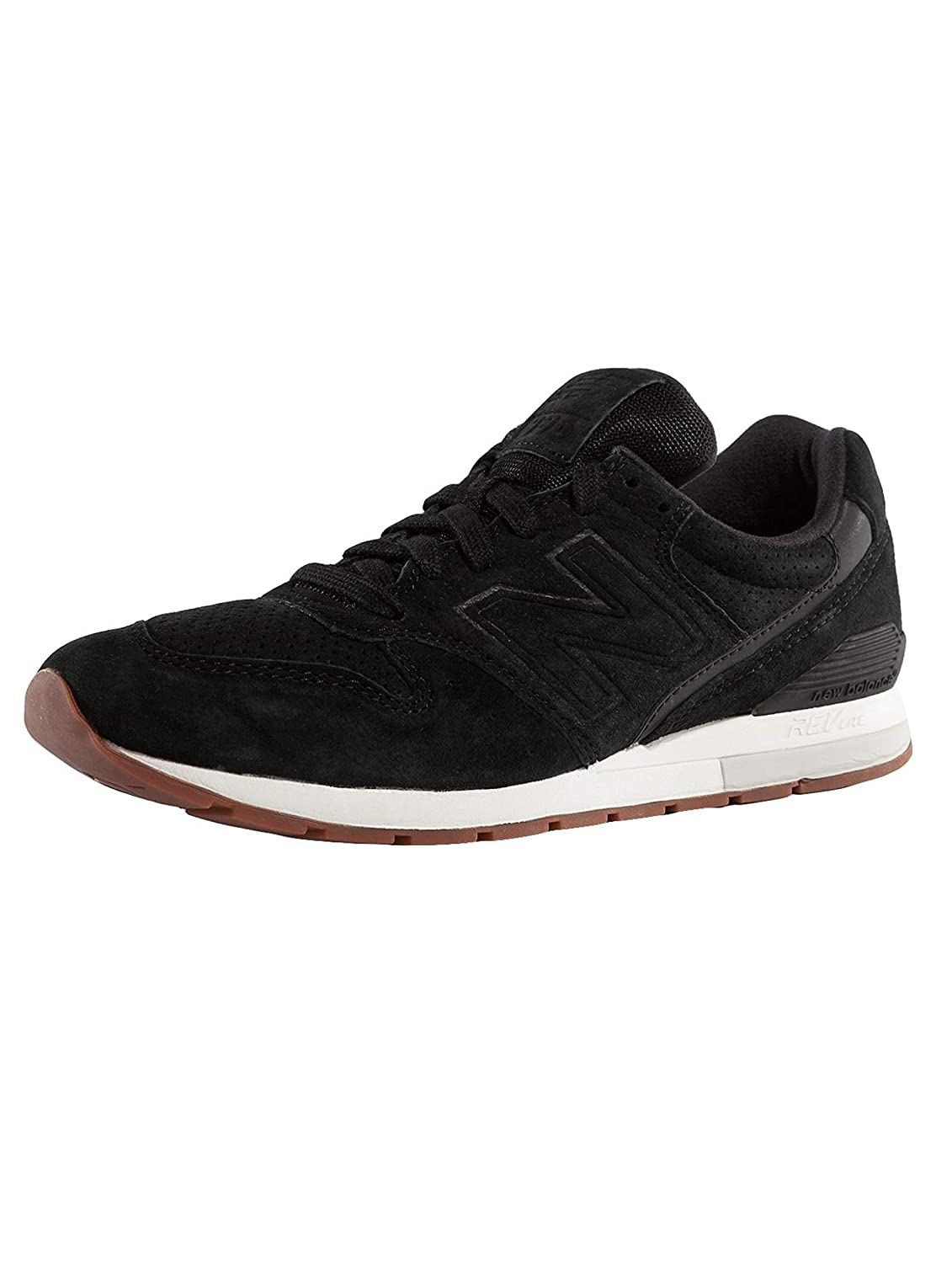 Amazon.com | New Balance Mens Sneaker 996 Revlite in Black Suede 9, 5(US)-9½(US) Black | Fashion Sneakers
