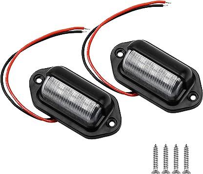 Led Kennzeichenbeleuchtung Birne Nummernschildbeleuchtung Rücklicht Kennzeichenleuchte Anhänger Glühbirnen Nummernschild Beleuchtung Lampe Für Auto Anhänger Fahrzeug Lkw Van Caravan Boot Auto