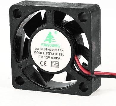 30mm x 10mm 3010 DC 12V 0.08A sin escobillas mini ventilador de ...