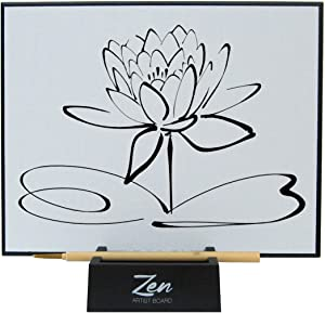 Zen Artist Board, Paint with Water Relaxation Meditation Art, Relieve Stress, Large Magic Painting Board Drawing with Watercolor, Bamboo Brush