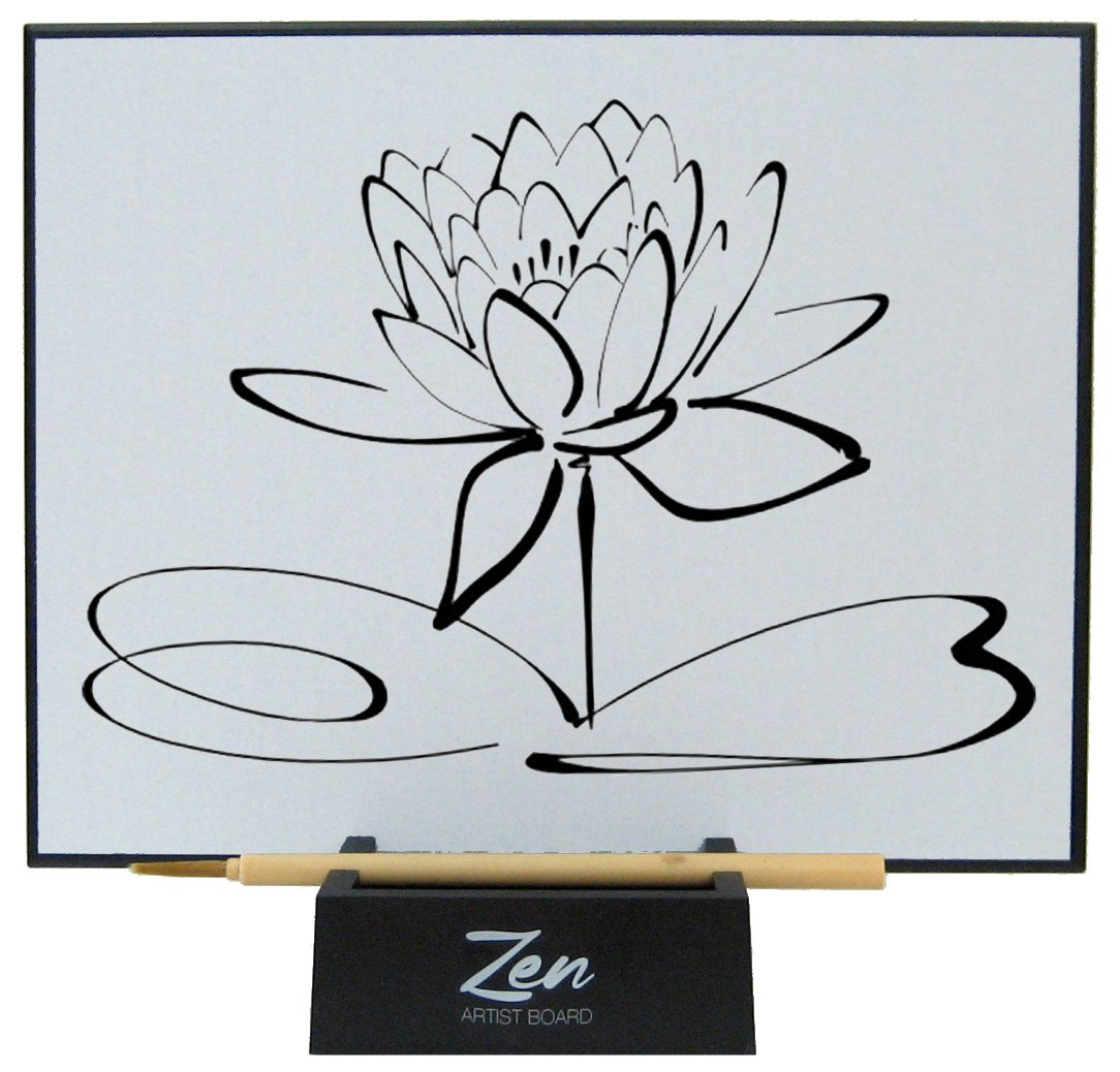 Zen Artist Board, Paint with Water Relaxation Meditation Art, Relieve Stress, Large Magic Painting Board Drawing with Watercolor, Bamboo Brush by Zen Life