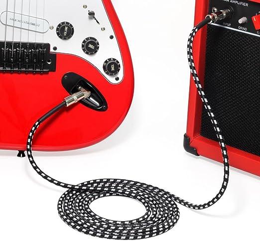LanLan Cable de Instrumentos de Guitarra, Cable de Audio de ...