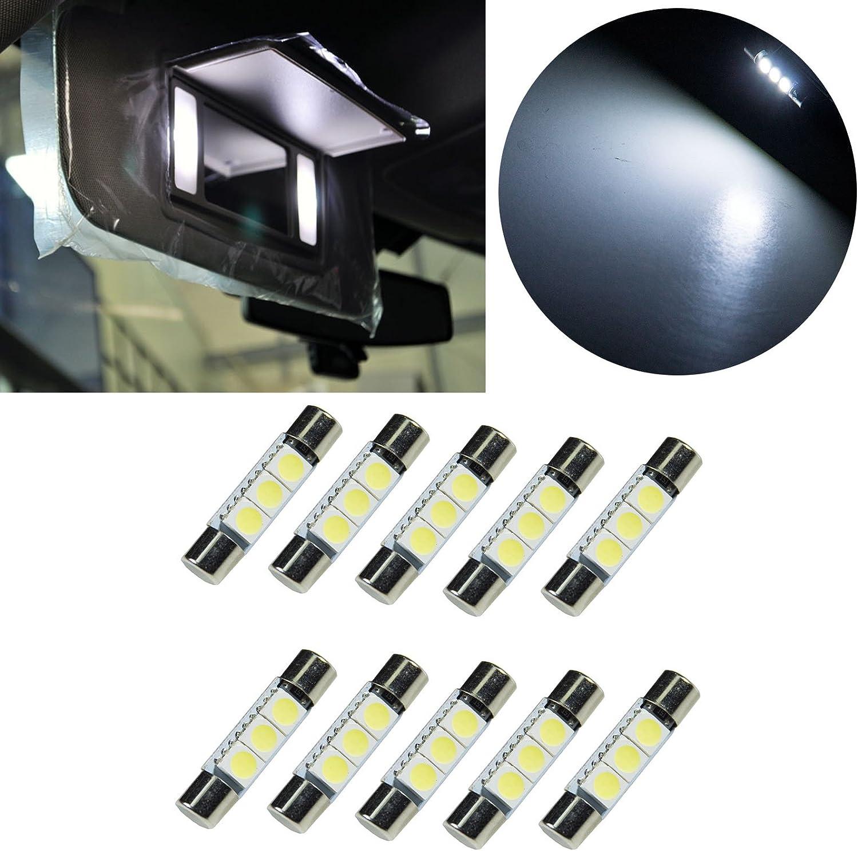 AUDI TT Mk2-2 Ampoules LED BLEU Eclairage Miroirs de courtoisie Pare soleil