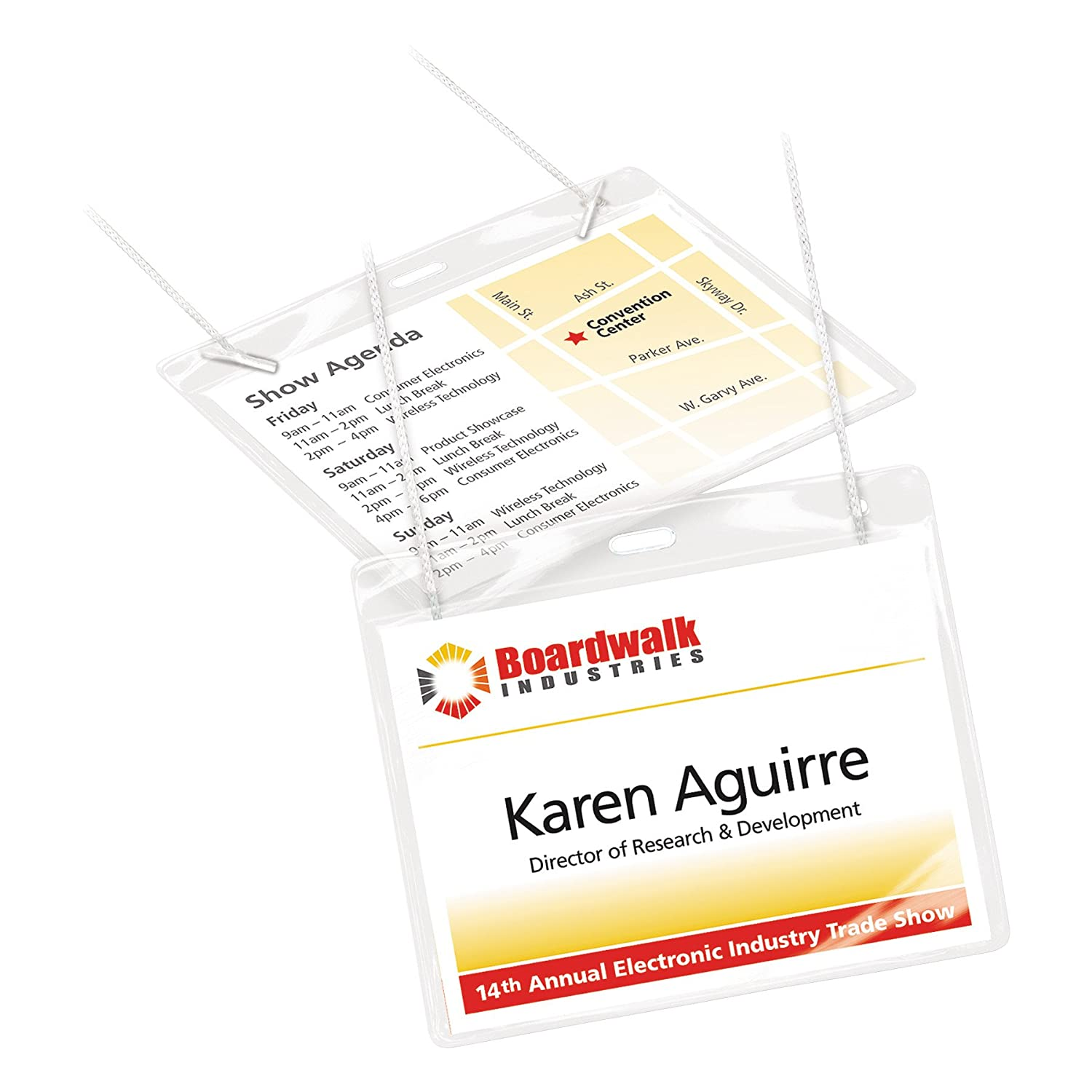 Amazon avery name badges with lanyards print or write 3 x 4 amazon avery name badges with lanyards print or write 3 x 4 badge holders lanyards 50 inserts 74520 name tags on string office products saigontimesfo