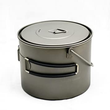TOAKS Titanium 1300ml Pot with Bail Handle by TOAKS: Amazon.es: Deportes y aire libre