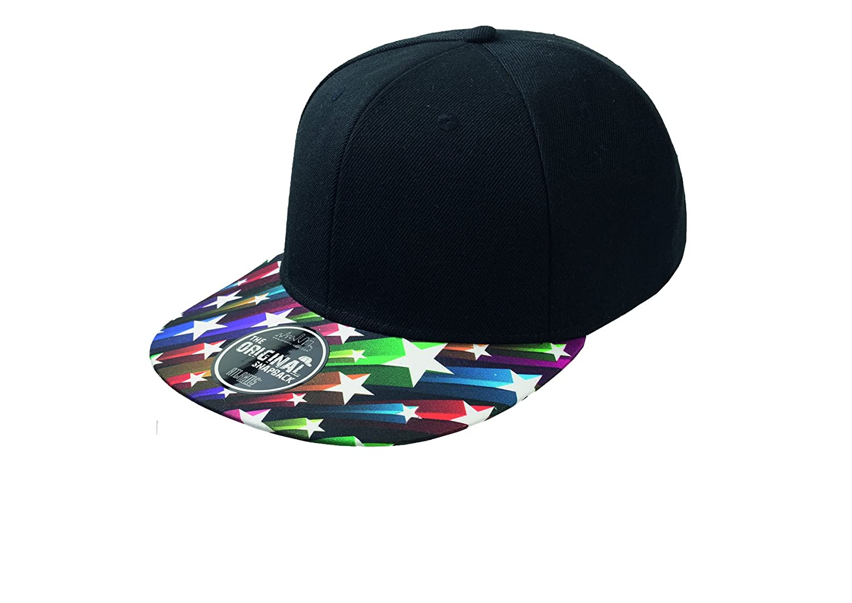 Gorra negra unisex visera ancha
