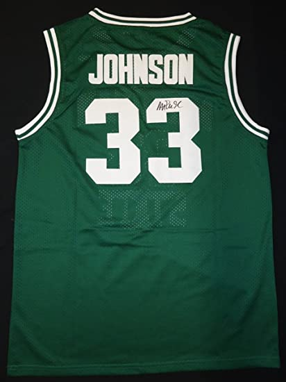 7dcb1e05 MAGIC JOHNSON AUTOGRAPHED MICHIGAN STATE SPARTANS GREEN JERSEY at Amazon's  Sports Collectibles Store