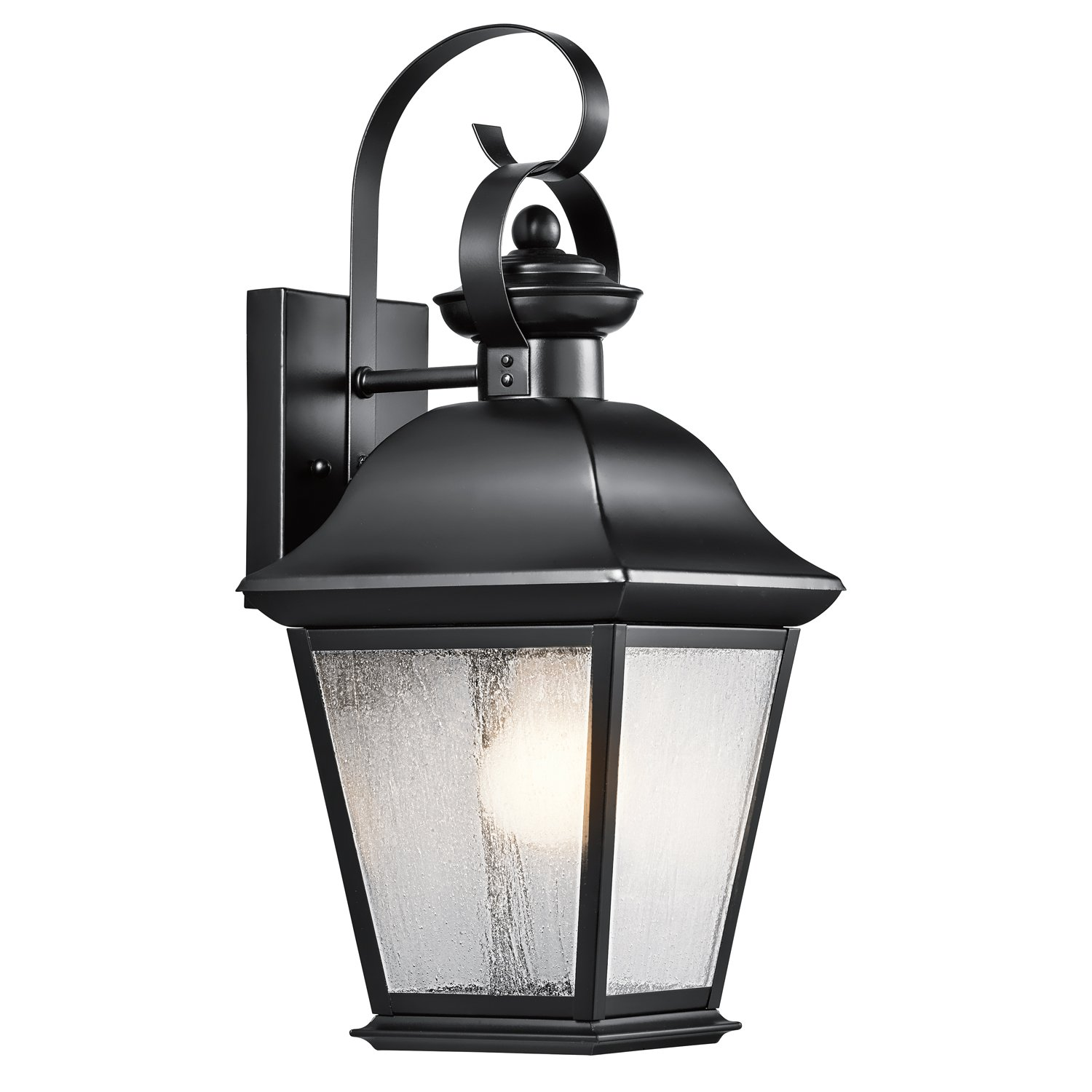 Kichler 9708BK One Light Outdoor Wall Mount - Wall Porch Lights ...