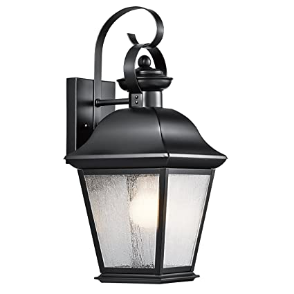 Kichler 9708bk mount vernon outdoor wall 1 light black