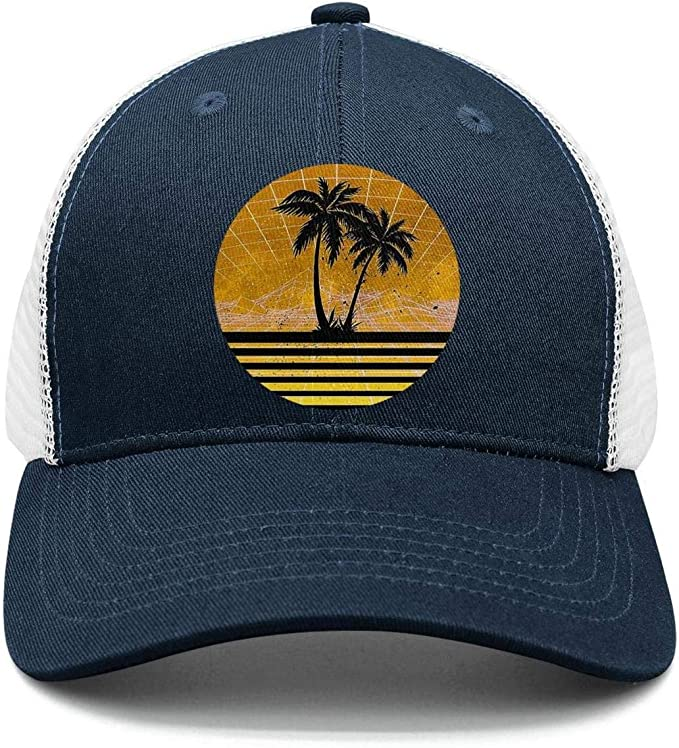 N////A Baseball cap New Embroidery Curved Palm Trees Dad Hats Take A Trip Baseball Cap Coconut Trees Hat With Visor Hip Hop Adjustable Cap