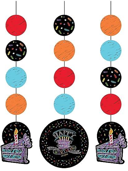 3 Colgantes Decoración * Happy Birthday * para fiestas ...