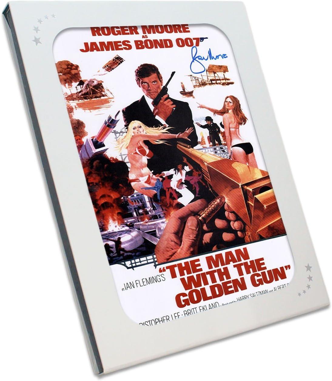 Roger Moore Firmado El hombre de la pistola de oro de James Bond 007 Póster de película en caja de regalo: Amazon.es: Deportes y aire libre
