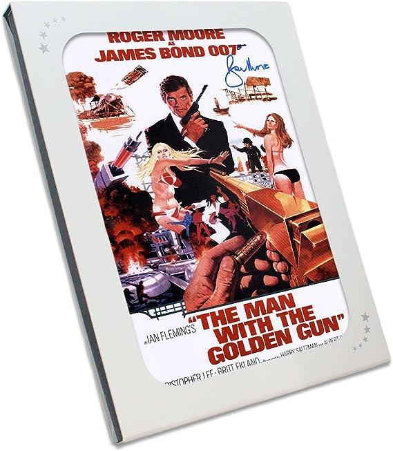 Roger Moore Firmado El hombre de la pistola de oro de James Bond ...