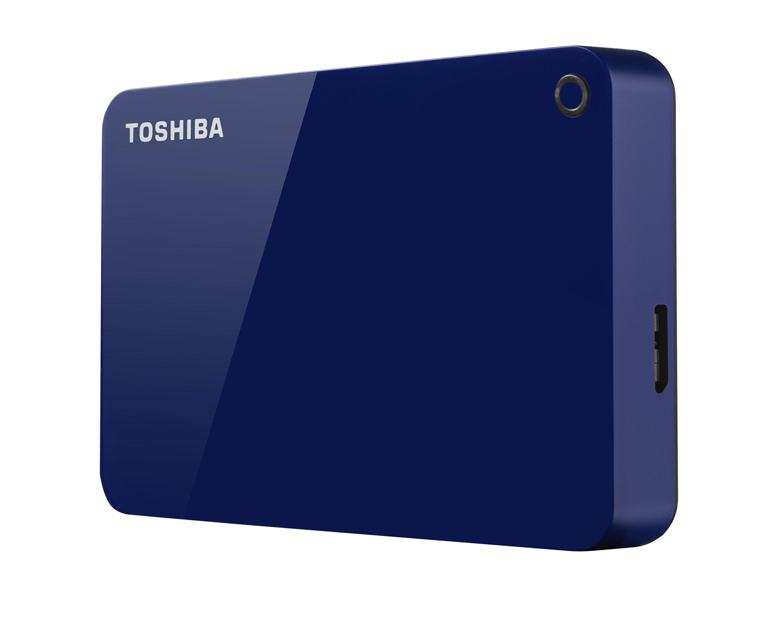Toshiba Canvio Advance 4TB Portable External Hard Drive USB 3.0, Blue (HDTC940XL3CA) by Toshiba (Image #3)