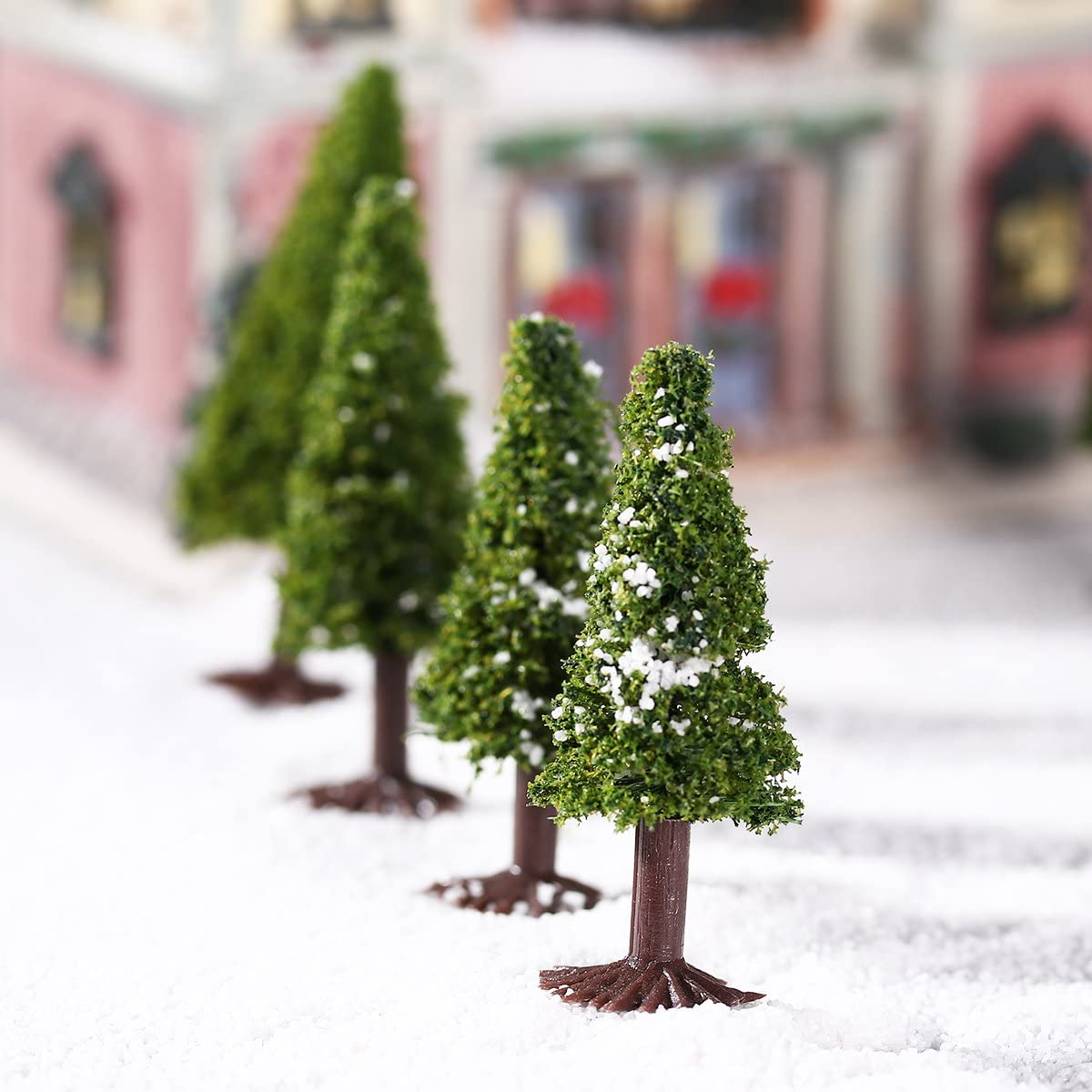 Landscape Tree Model, Green Scenery Landscape Model Cedar Trees, 15pcs