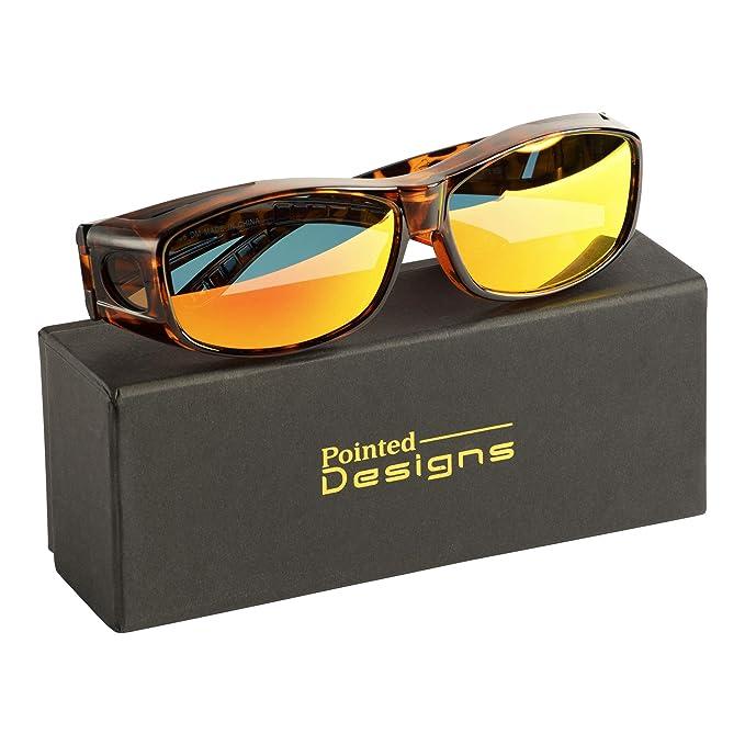 Amazon.com: Gafas de sol con lentes de espejo, caja y gamuza ...