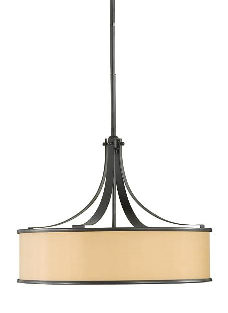 Murray Feiss F2343/4DBZ, Casual Luxury Shade Pendant, 4 Light, 400 Watts